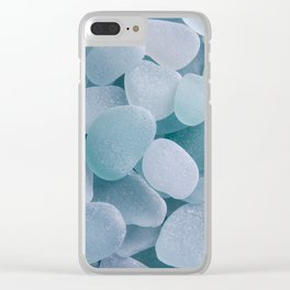 Aqua Sea Glass - Up Close & Personal Clear iPhone Case