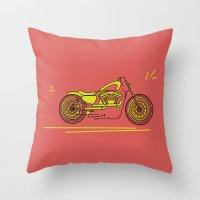 bike Throw Pillows featuring Bike by Daniella Gallistl