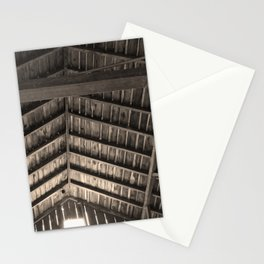 Old Barn Rafters in Sepia Stationery Cards