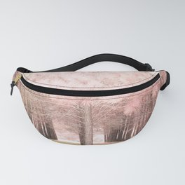 Pink Nature Woodlands Trees Baby Girl Nursery Decor Fanny Pack