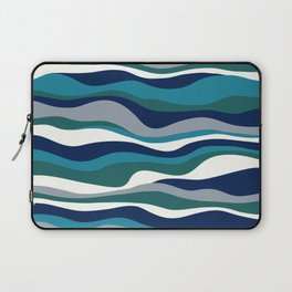 Cordillera Stripe: Teal Navy Combo Laptop Sleeve
