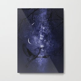 Starry Night and Moon #4 Metal Print