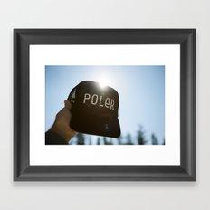 Poler Hat Framed Art Print