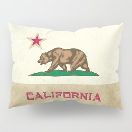 Vintage California Flag Pillow Sham