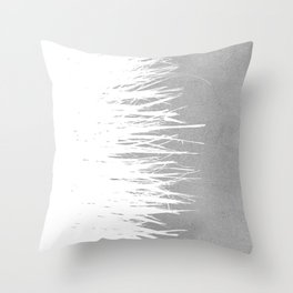 Concrete Fringe White Side Throw Pillow