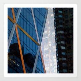Manhattan Windows - Diamonds Art Print