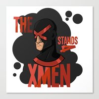 xmen Canvas Prints featuring The X stands 4 XMEN by JakbTIME