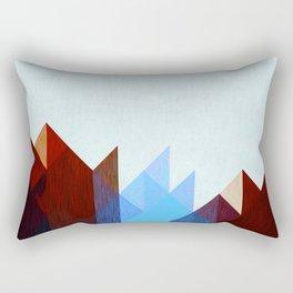 Red Peaks Rectangular Pillow