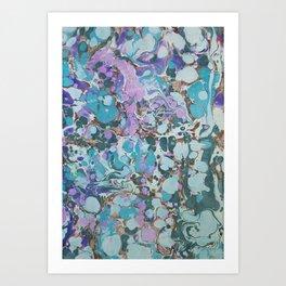 Aquabubble marbleized print Art Print