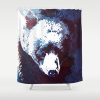run Shower Curtains featuring Death run by Robert Farkas