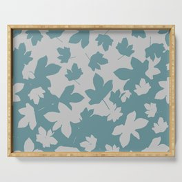 Grey leaves decor envelop.  Serving Tray