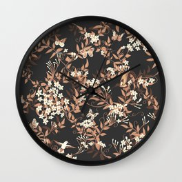 jasmine trellis Wall Clock