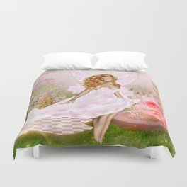 Pink Opal Duvet Cover
