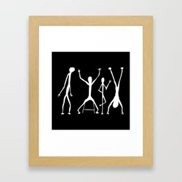 Abstract People Black + White Framed Art Print