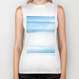 180527 Abstact Watercolor 25 Blue| Watercolor Brush Strokes Biker Tank
