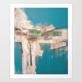 Abstract art by Thekla Papadopoulou Art Print