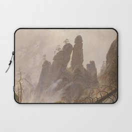 Caspar David Friedrich - Rocky Ravine in the Elbe Sandstein Mountains - Felsenlandschaft im Elbsands Laptop Sleeve