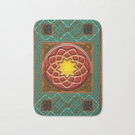 Celtic Knotwork panel in Persian Green Bath Mat