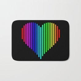 Techno Love Heart Bath Mat