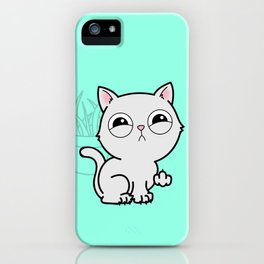 Kitty Knows Sign Language iPhone Case