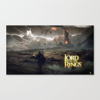 lord of the ring Canvas Prints featuring Shadow of mordor/ Lord of the ring original by Alphonse Chèvre