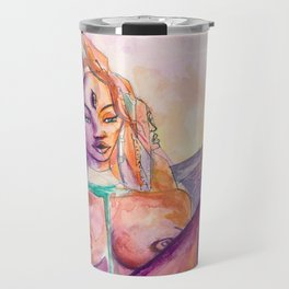 One With Nature - Mountain Goddess Watercolor Travel Mug