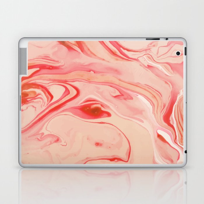 Red Mix Marble Laptop & iPad Skin