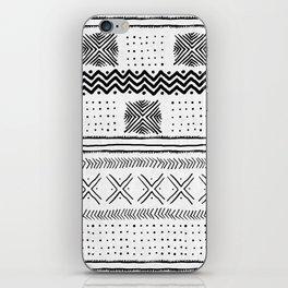 Mud Cloth Geometric Stripe iPhone Skin