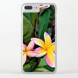 Hawaiian Plumeria at Sunrise Clear iPhone Case