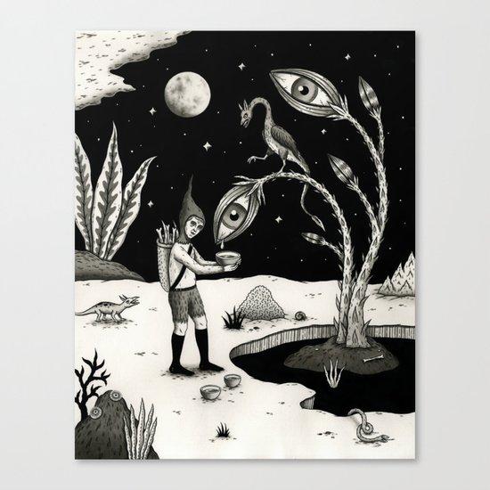 Lucrative Lachrymation  Canvas Print