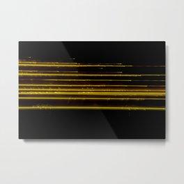 Abstract Orange Light Effect Metal Print