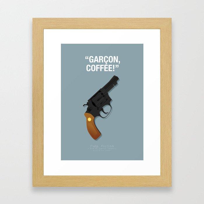 Garçon, Coffee! - Pulp Fiction Fanart Poster Framed Art Print