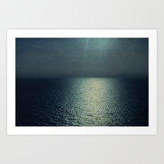sea - sunset blue Art Print
