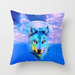 WOLF #2 Throw Pillow