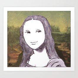 Chibi Mona.. Art Print