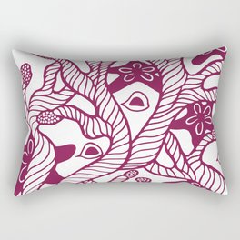 Seaweed, coral and starfish ornament Rectangular Pillow