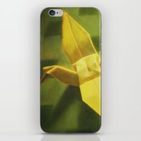crane iPhone & iPod Skins featuring Crane by Hugo F G