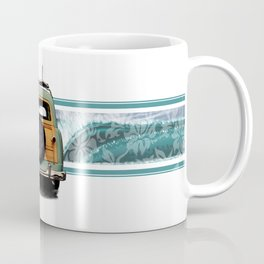 Woody Wave Hawaiian Surf Illustration  Coffee Mug