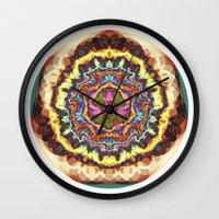 gucci Wall Clocks featuring Energy 7 by JuanAndresChacin