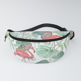 Pink flamingos. Fanny Pack