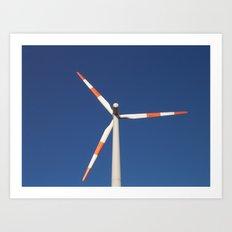 :: wind wheel :: Art Print