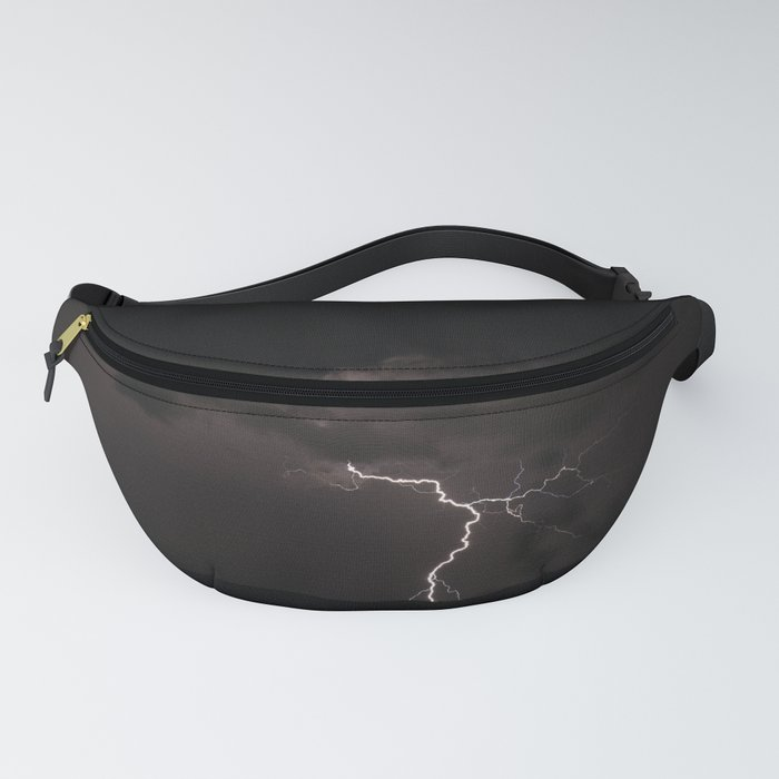 Lighting bolt during an obscure night Fanny Pack