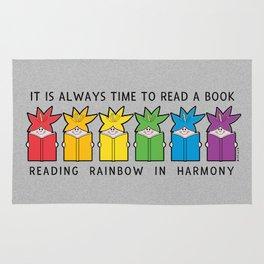 Reading Rainbow in Harmony Rug