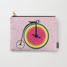 Vintage Bicycle Fruits Wheels Design Carry-All Pouch