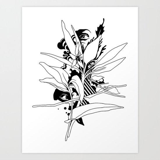 eye & leaf Art Print