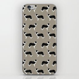 Border Collie dog pattern pet friendly dog art dog lover gifts with favorite dog breeds iPhone Skin