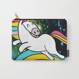 Space Flying Unicorn Flip Carry-All Pouch