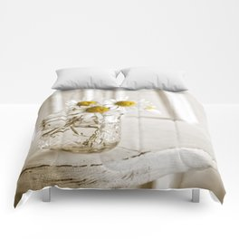 Simple White Daisy Flowers Comforters