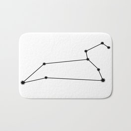 Leo Astrology Star Sign Minimal Bath Mat