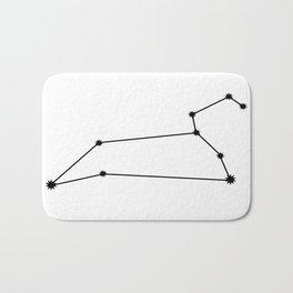 Leo Star Sign Black & White Bath Mat